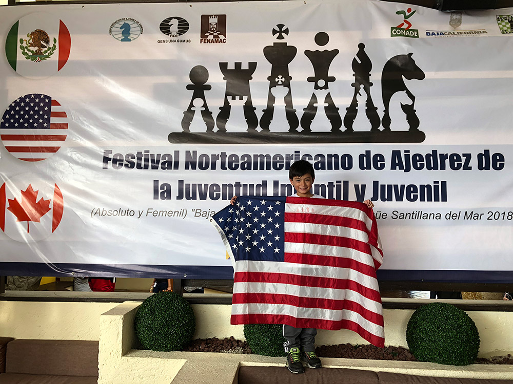 Oliver attends the North American Youth Chess Championships in Mexico. At this tournament, he competed against players from the United States, Canada, and Mexico. November, 2018